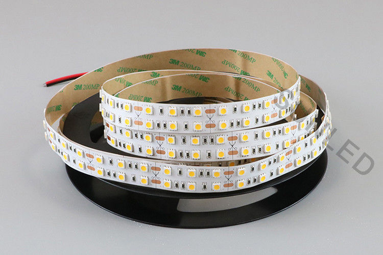 Double Row Bright Led Strip Lights DC 24V 28W Low Power Consumption